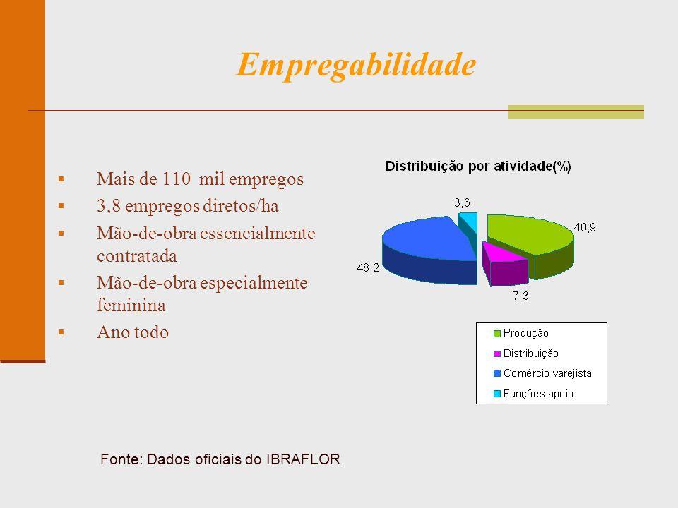 Área Cultivada Fonte: Dados oficiais do IBRAFLOR