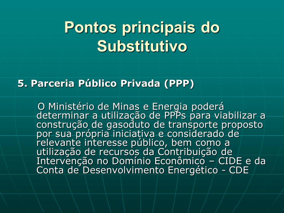 Pontos principais do Substitutivo 5.