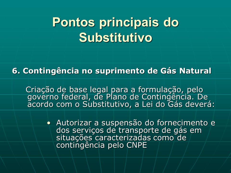 Pontos principais do Substitutivo 6.