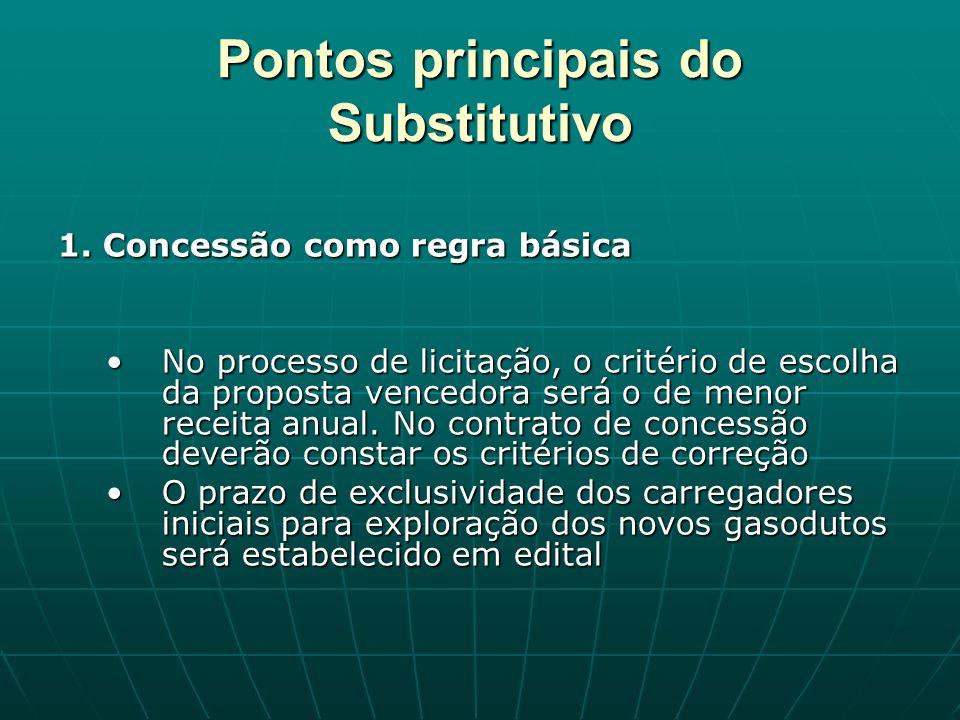 Pontos principais do Substitutivo 1.