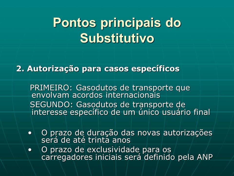 Pontos principais do Substitutivo 2.