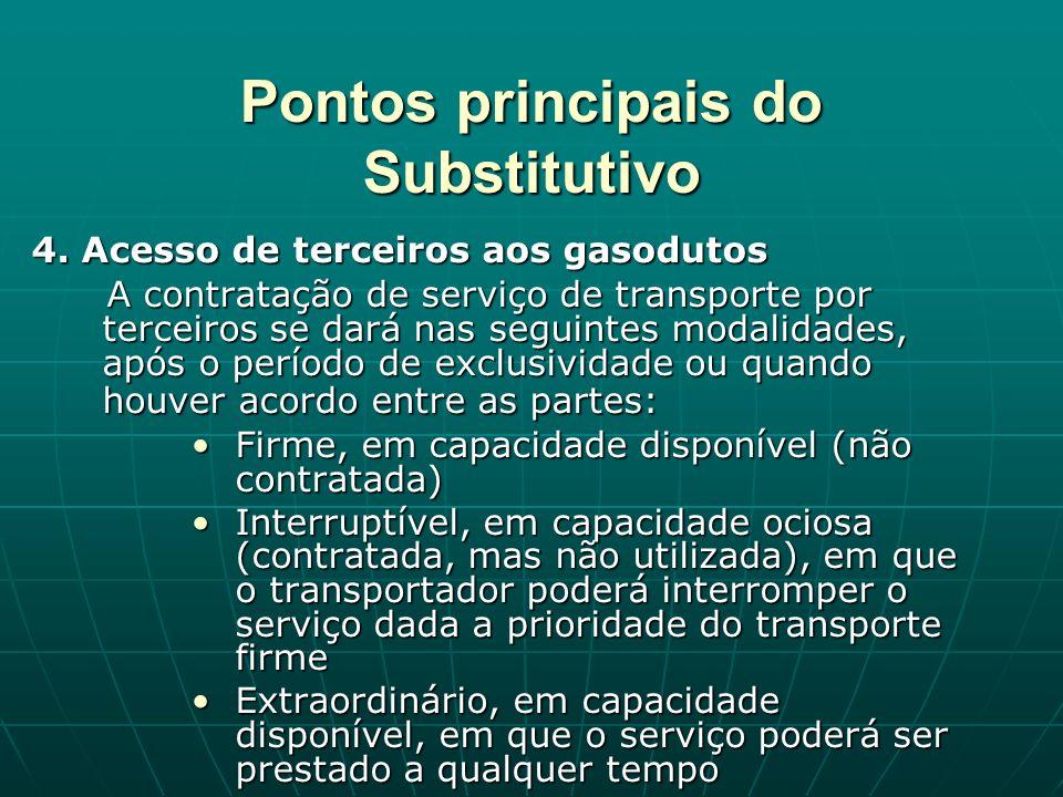 Pontos principais do Substitutivo 4.