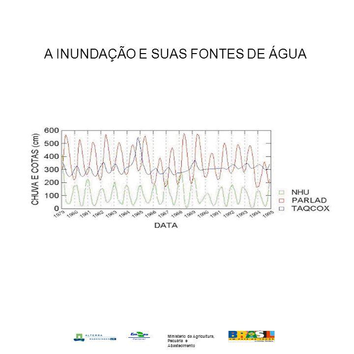 A INUNDAÇÃO E SUAS FONTES DE ÁGUA Ministério da Agricultura, Pecuária e Abastecimento