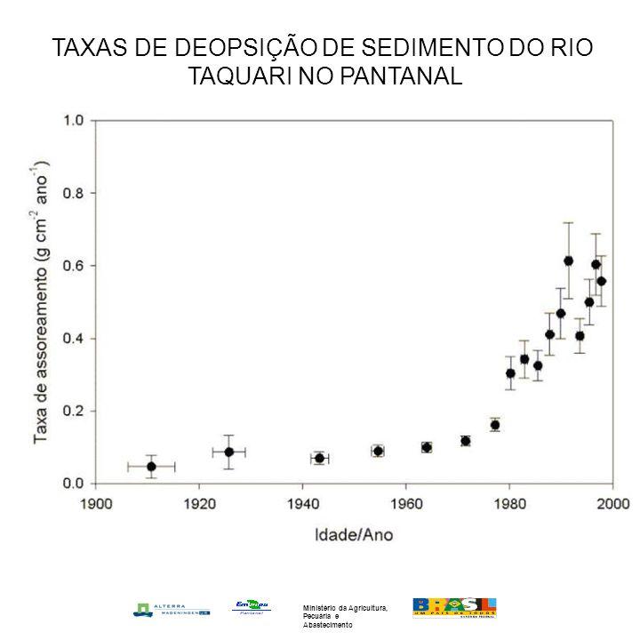 TAXAS DE DEOPSIÇÃO DE SEDIMENTO DO RIO TAQUARI NO PANTANAL Ministério da Agricultura, Pecuária e Abastecimento