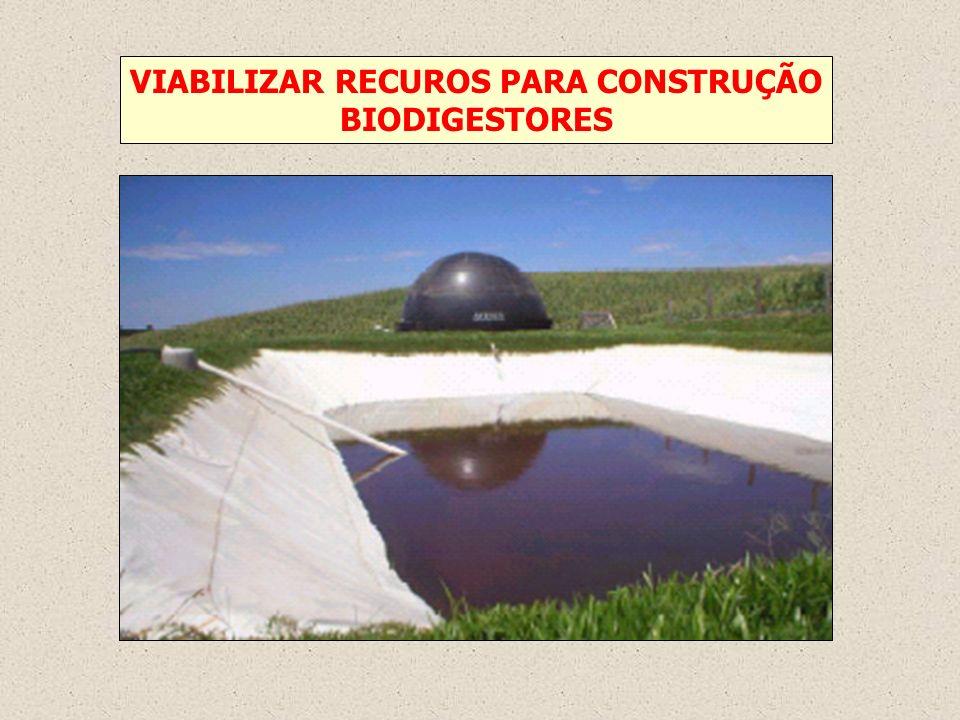 VIABILIZAR RECUROS PARA CONSTRUÇÃO BIODIGESTORES