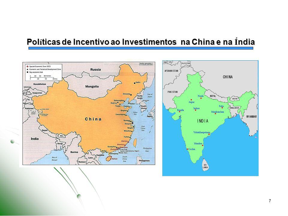 8 Estabelecimento de Metas Claras Regras relativas às áreas objeto de promoção ao ingresso de investimentos e capital estrangeiro Desenvolvimento de regiões específicas Zonas Econômicas Especiais, etc.