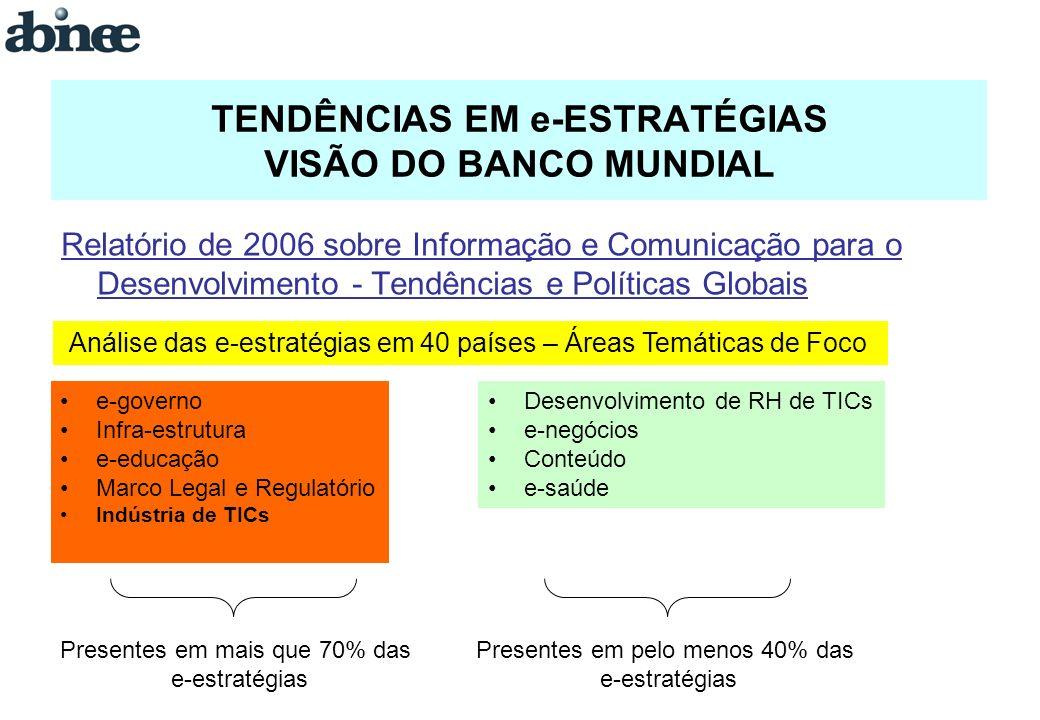 TENDÊNCIAS EM e-ESTRATÉGIAS VISÃO DO BANCO MUNDIAL Relatório de 2006 sobre Informação e Comunicação para o Desenvolvimento - Tendências e Políticas Gl