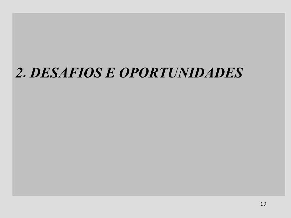 10 2. DESAFIOS E OPORTUNIDADES