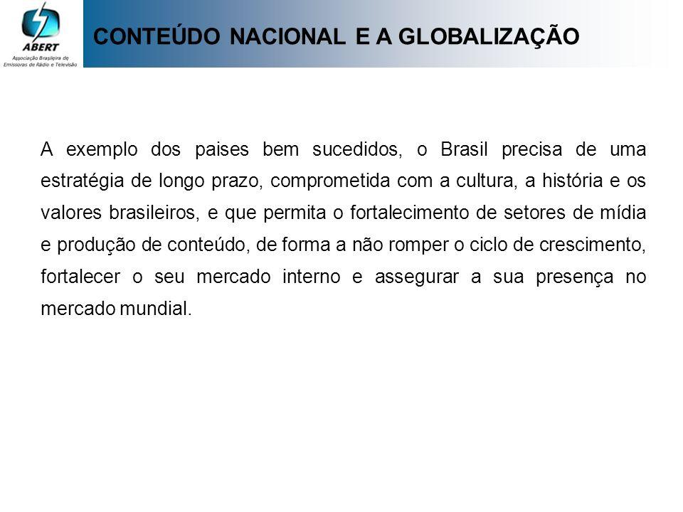 A exemplo dos paises bem sucedidos, o Brasil precisa de uma estratégia de longo prazo, comprometida com a cultura, a história e os valores brasileiros