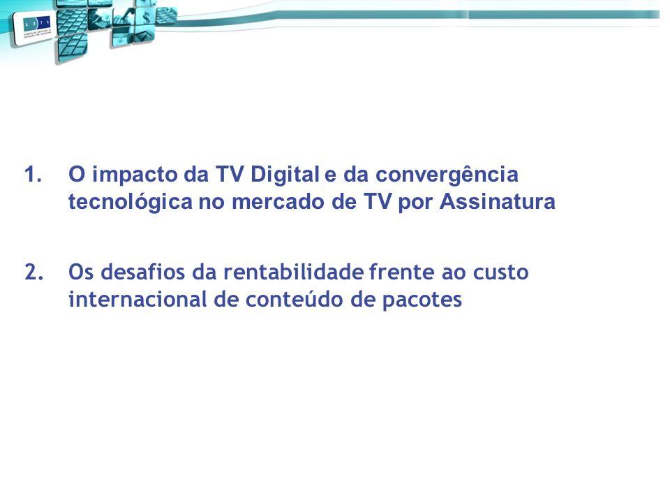 1.O impacto da TV Digital e da convergência tecnológica no mercado de TV por Assinatura 2.Os desafios da rentabilidade frente ao custo internacional d