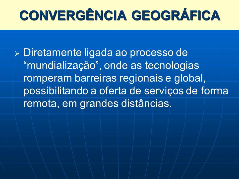 Diretamente ligada ao processo de mundialização, onde as tecnologias romperam barreiras regionais e global, possibilitando a oferta de serviços de for
