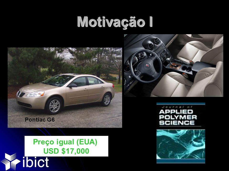 Motivação I Preço igual (EUA) USD $17,000 Pontiac G6
