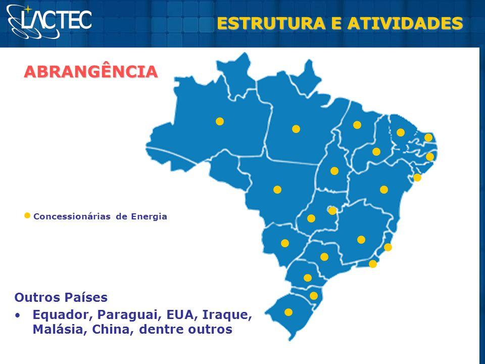 Outros Países Equador, Paraguai, EUA, Iraque, Malásia, China, dentre outros ABRANGÊNCIA Concessionárias de Energia ESTRUTURA E ATIVIDADES