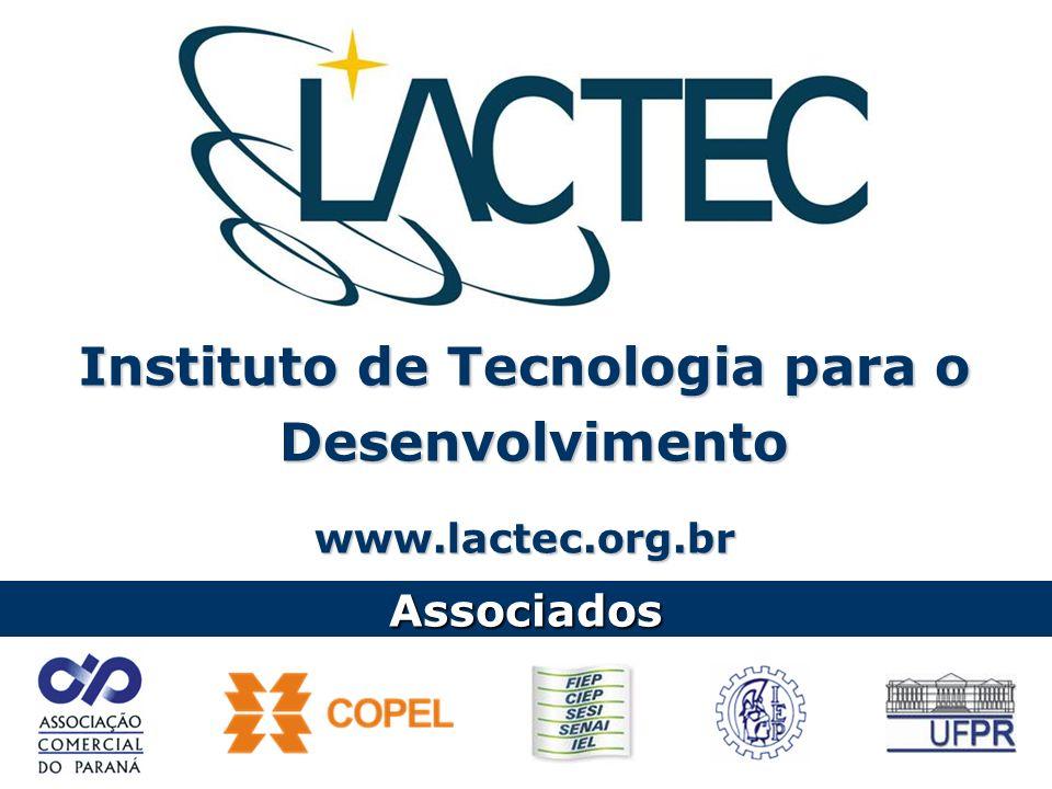 Instituto de Tecnologia para o Desenvolvimento Desenvolvimentowww.lactec.org.br Associados