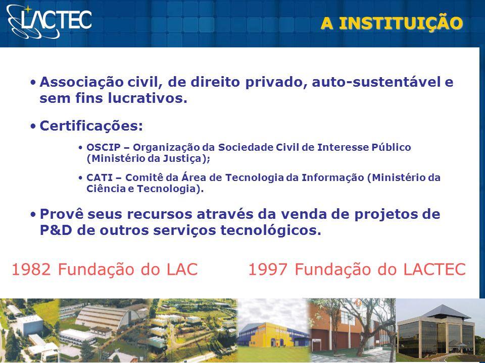 A INSTITUIÇÃO Associação civil, de direito privado, auto-sustentável e sem fins lucrativos. Certificações: OSCIP – Organização da Sociedade Civil de I