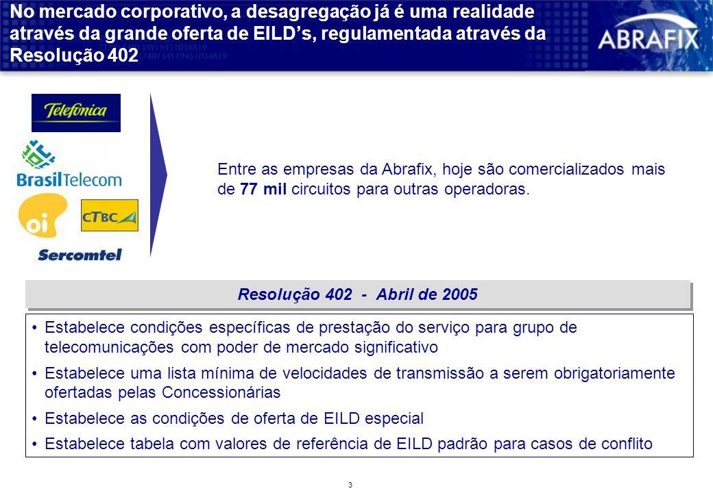 2 A Agência já fixou condições iniciais para a desagregação e todas as operadoras já disponibilizaram suas ofertas públicas DSLAM Alta Freqüência Baix