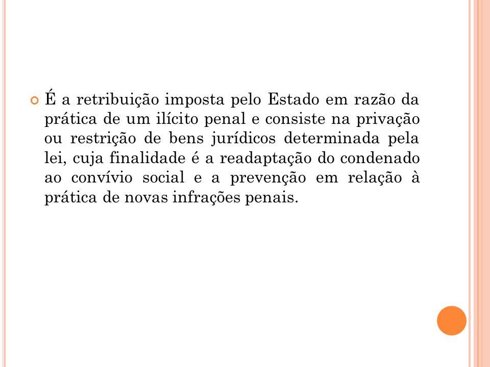 FUNDAMENTOS DA PENA A aplicação da pena ao condenado possui diversos fundamentos.