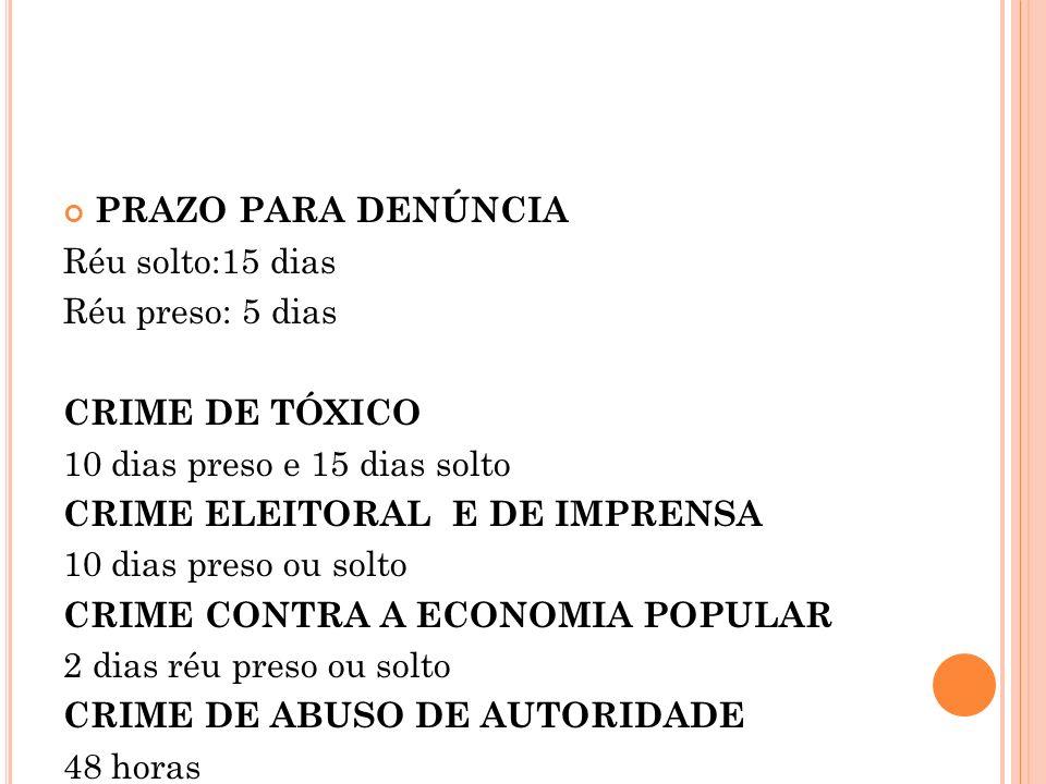 AÇÃO PENAL PÚBLICA CONDICIONADA Formas e destinatários da Representação Autoridade Policial MP Juiz
