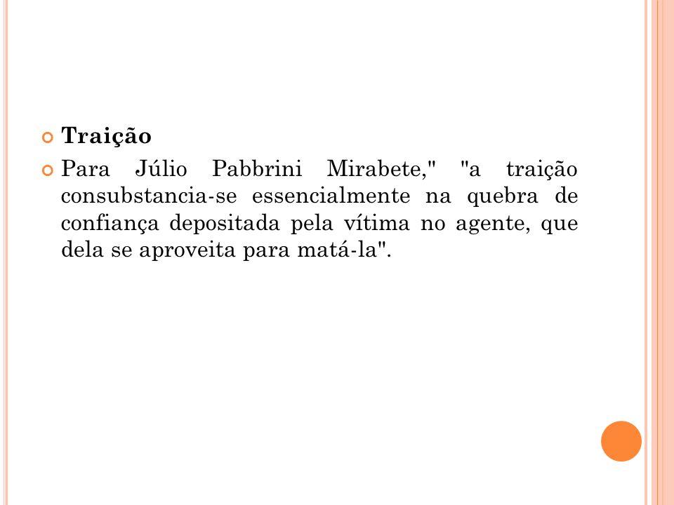 Traição Para Júlio Pabbrini Mirabete,