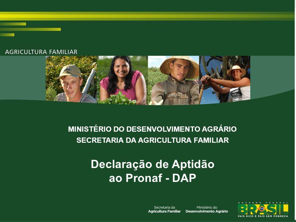 Legislação Os normativos do enquadramento do agricultores familiares 1) Lei 11.326/06 2) Seção 2, Cap.