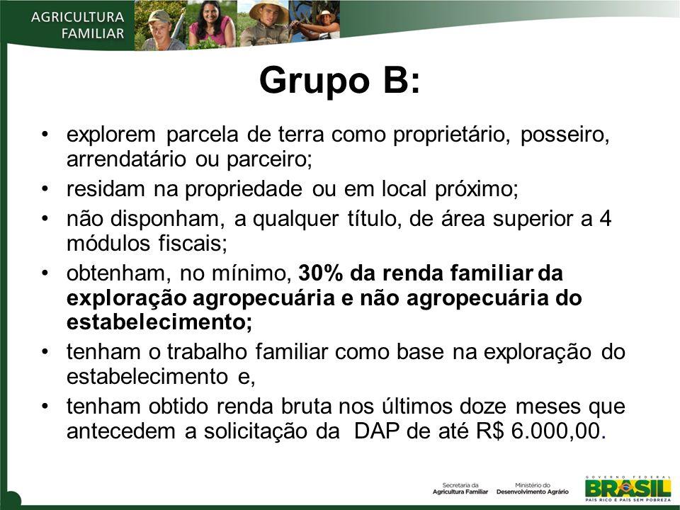 DAP - Desmistificando o enquadramento 1 Empreendimento rural é a principal atividade econômica da família .