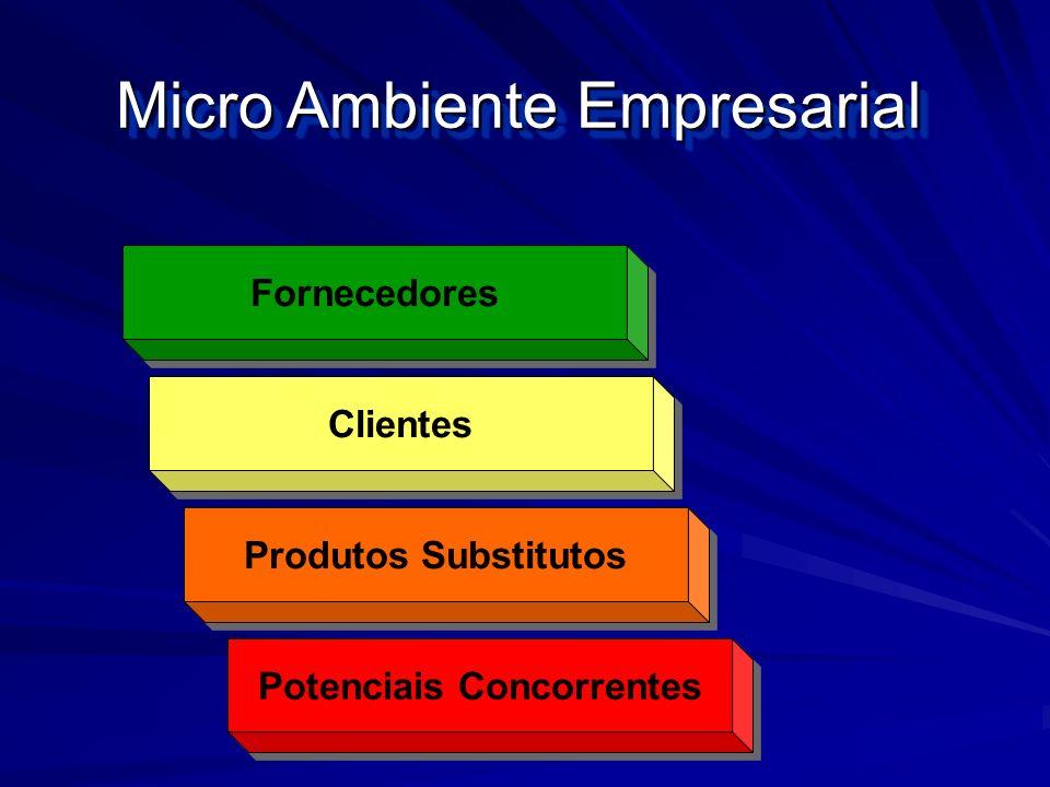 Micro Ambiente Empresarial Fornecedores Clientes Potenciais Concorrentes Produtos Substitutos