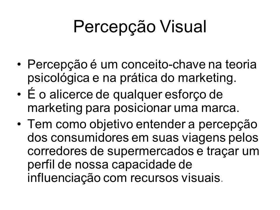 Percepção Visual Percepção é um conceito-chave na teoria psicológica e na prática do marketing. É o alicerce de qualquer esforço de marketing para pos