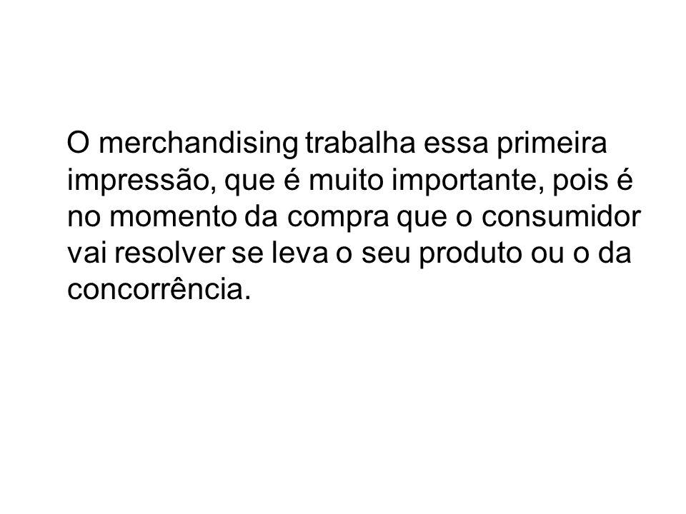 O merchandising trabalha essa primeira impressão, que é muito importante, pois é no momento da compra que o consumidor vai resolver se leva o seu prod