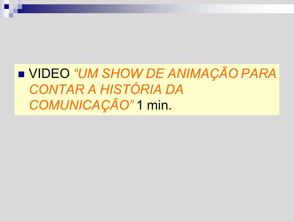 VIDEO UM SHOW DE ANIMAÇÃO PARA CONTAR A HISTÓRIA DA COMUNICAÇÃO 1 min.