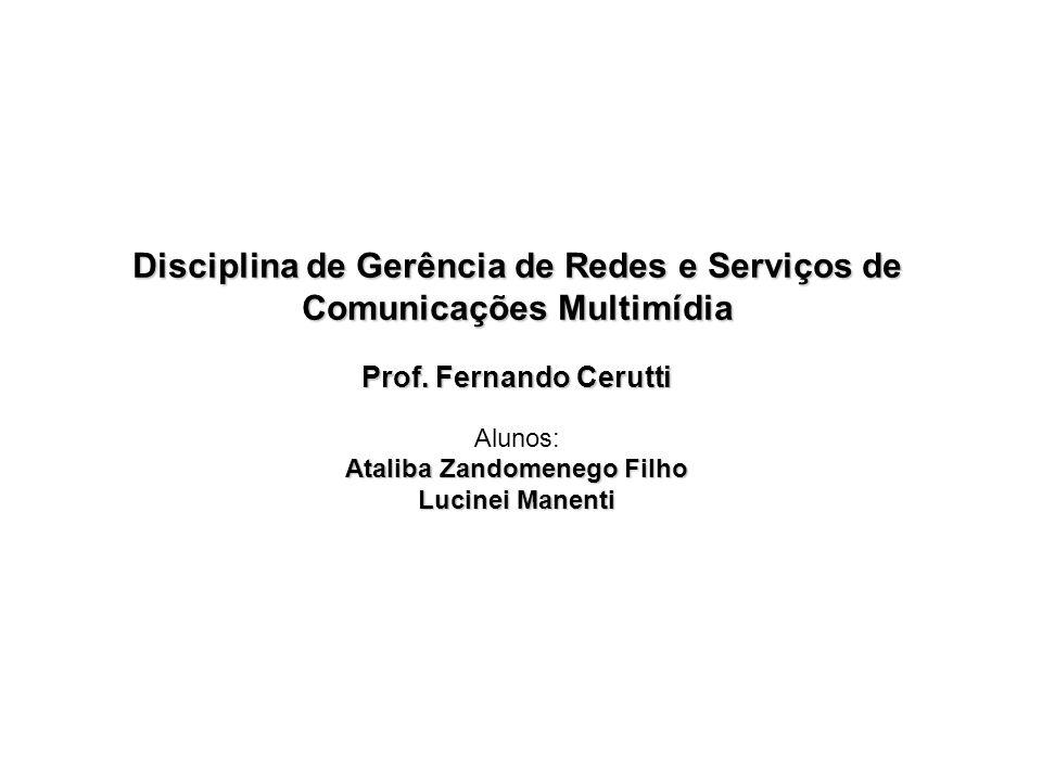 Disciplina de Gerência de Redes e Serviços de Comunicações Multimídia Prof.