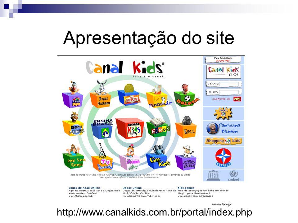Apresentação do site http://www.canalkids.com.br/portal/index.php