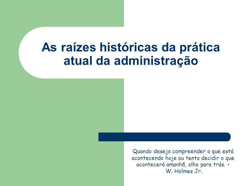 A Era Pré-Moderna Administração Científica Administração Geral Contribuições Clássicas