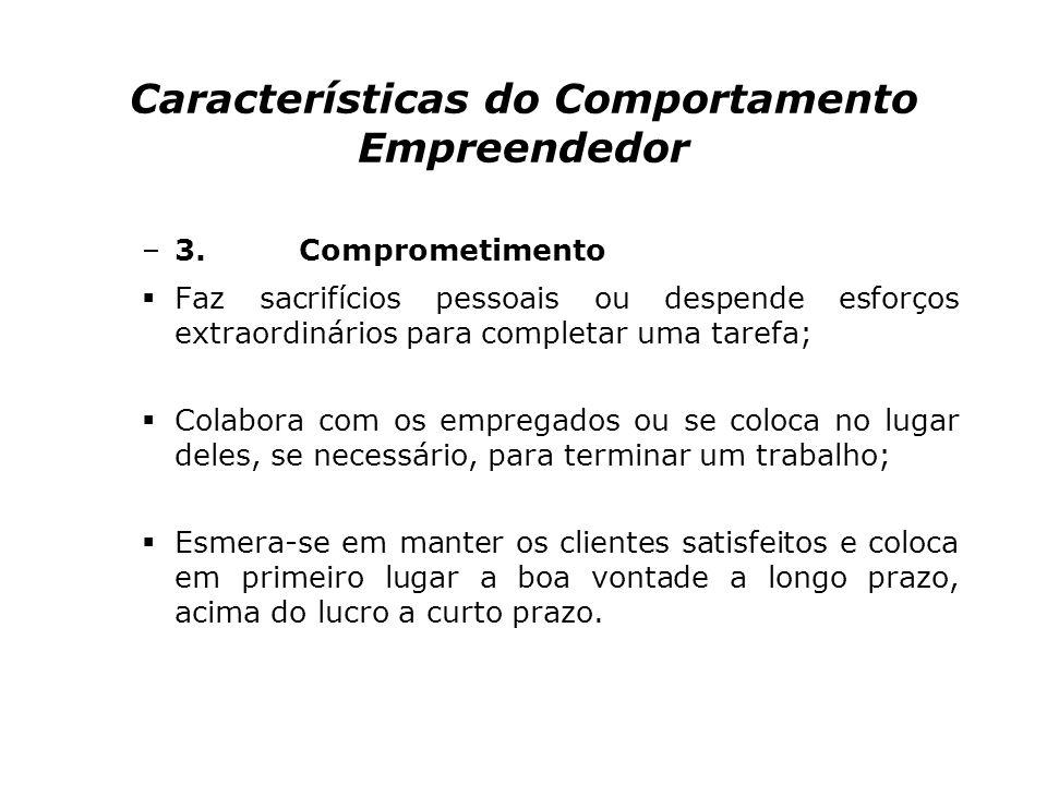 Características do Comportamento Empreendedor –3.