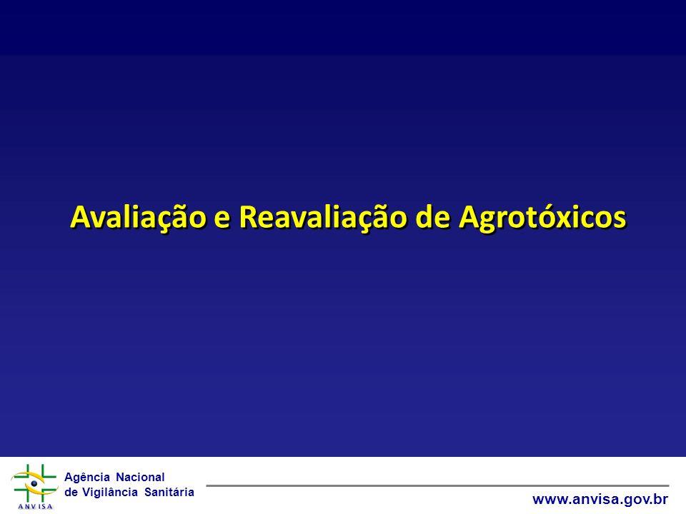 Agência Nacional de Vigilância Sanitária www.anvisa.gov.br Avaliação e Reavaliação de Agrotóxicos