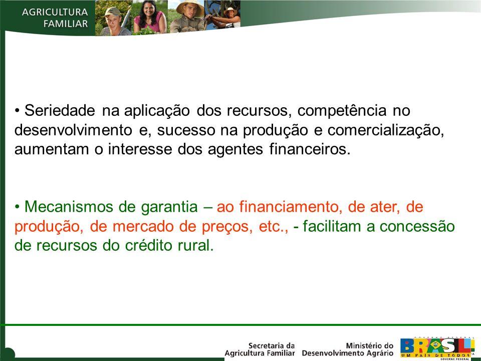 Seriedade na aplicação dos recursos, competência no desenvolvimento e, sucesso na produção e comercialização, aumentam o interesse dos agentes finance