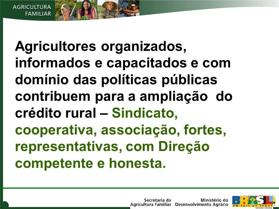 Agricultores organizados, informados e capacitados e com domínio das políticas públicas contribuem para a ampliação do crédito rural – Sindicato, coop