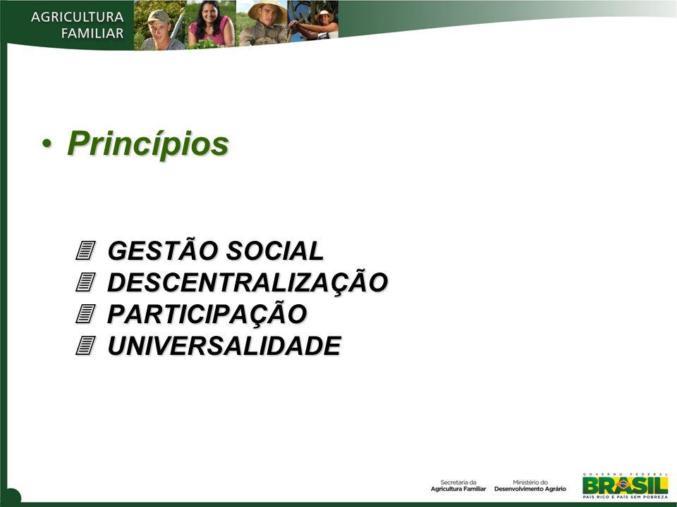 Princípios GESTÃO SOCIAL DESCENTRALIZAÇÃO PARTICIPAÇÃO UNIVERSALIDADEPrincípios GESTÃO SOCIAL DESCENTRALIZAÇÃO PARTICIPAÇÃO UNIVERSALIDADE
