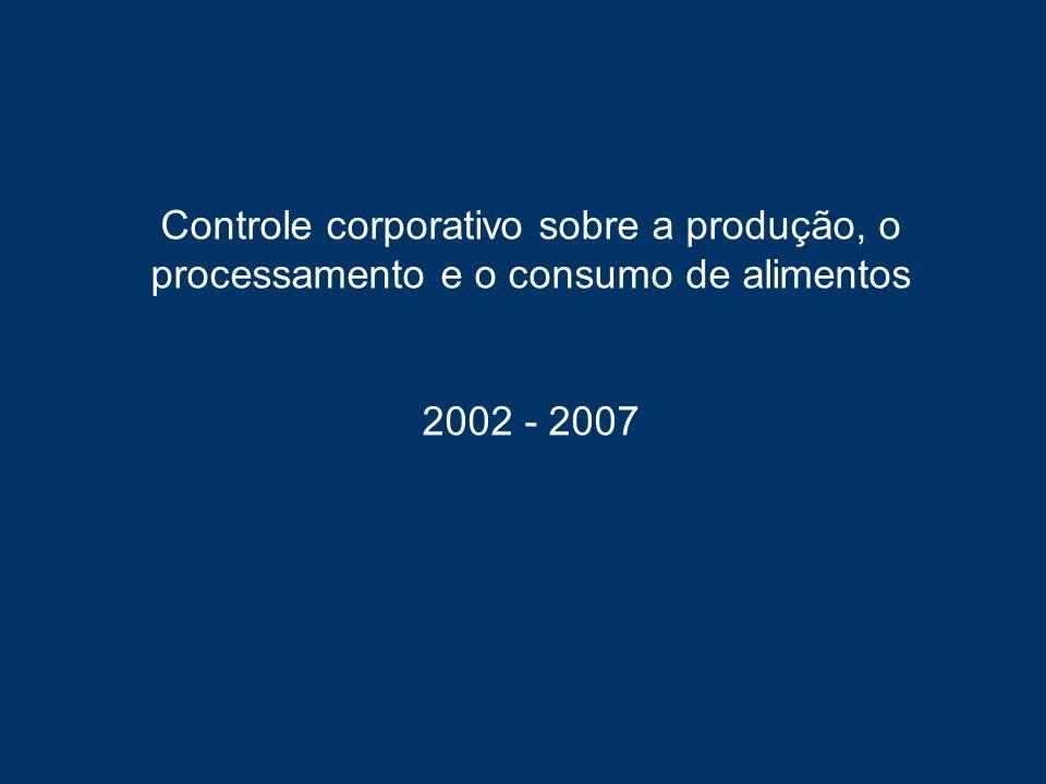 Indústria de sementes – Mercado global Empresa (10 maiores)Vendas em 2007 (US$ milhões) % do mercado global de sementes protegidas 1.