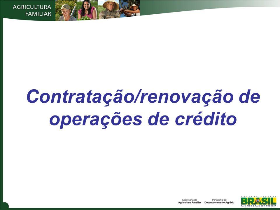Contratação/renovação de operações de crédito