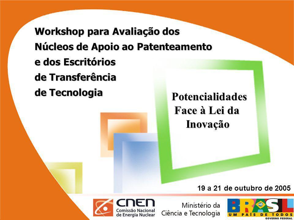Avaliação dos Núcleos de Apoio ao Patenteamento e dos Escritórios de Transferência de Tecnologia Rio de Janeiro - 19 a 21 de outubro de 2005 Workshop