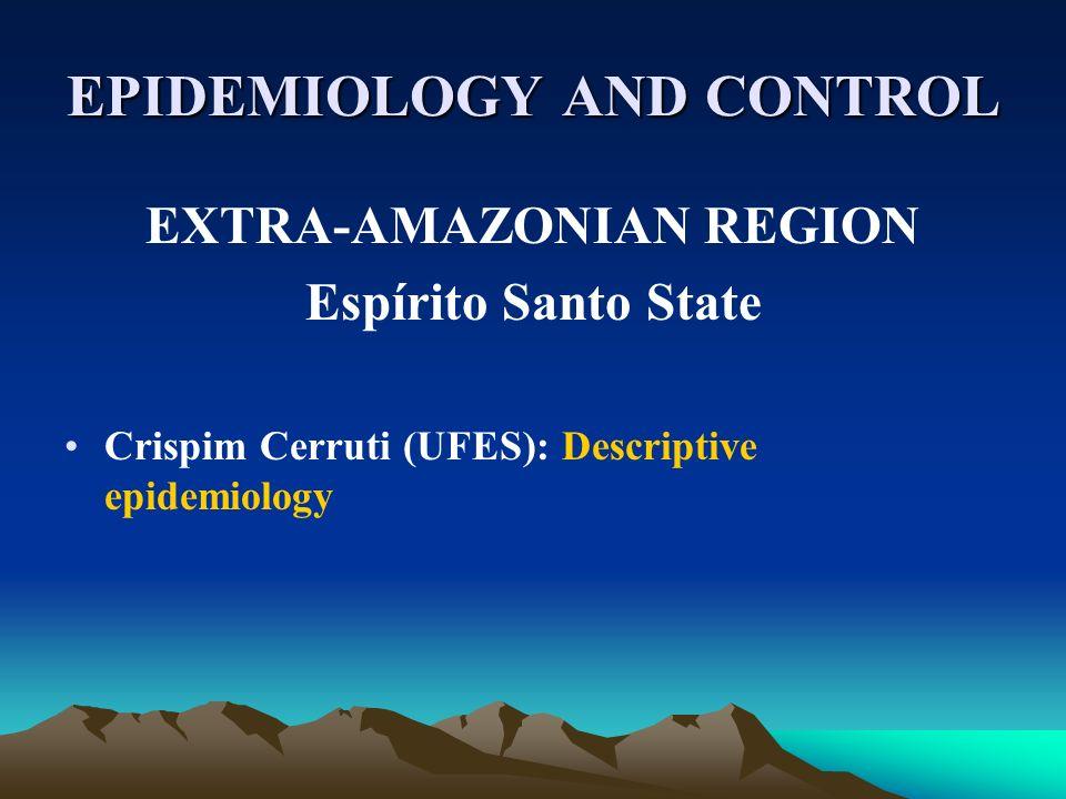EPIDEMIOLOGY AND CONTROL EXTRA-AMAZONIAN REGION Espírito Santo State Crispim Cerruti (UFES): Descriptive epidemiology