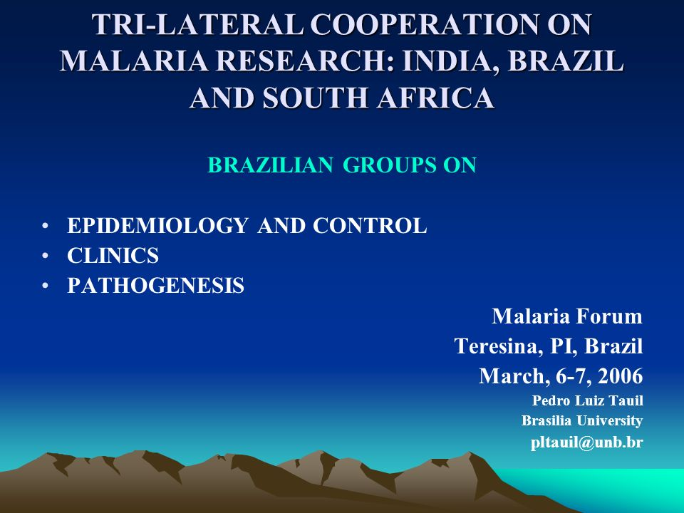 Brazilian Malaria Research Centers