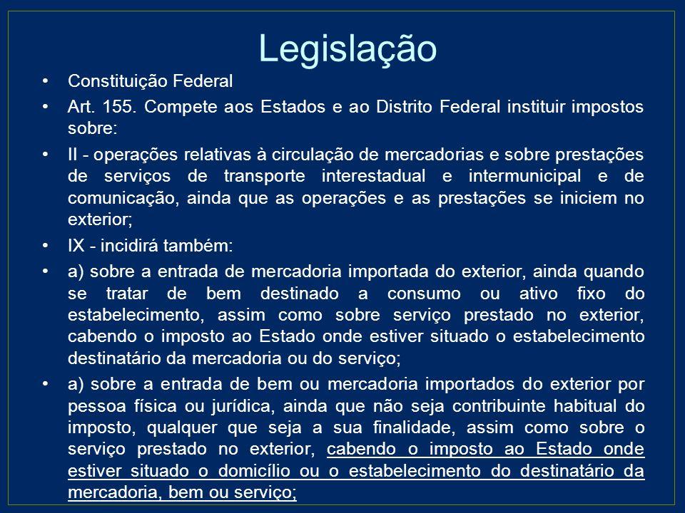 Legislação Lei complementar 87/96 Art.