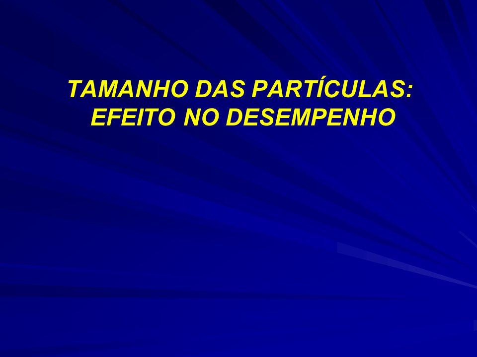 TAMANHO DAS PARTÍCULAS: EFEITO NO DESEMPENHO