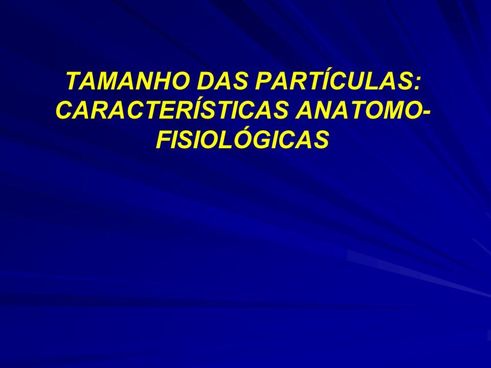 TAMANHO DAS PARTÍCULAS: CARACTERÍSTICAS ANATOMO- FISIOLÓGICAS