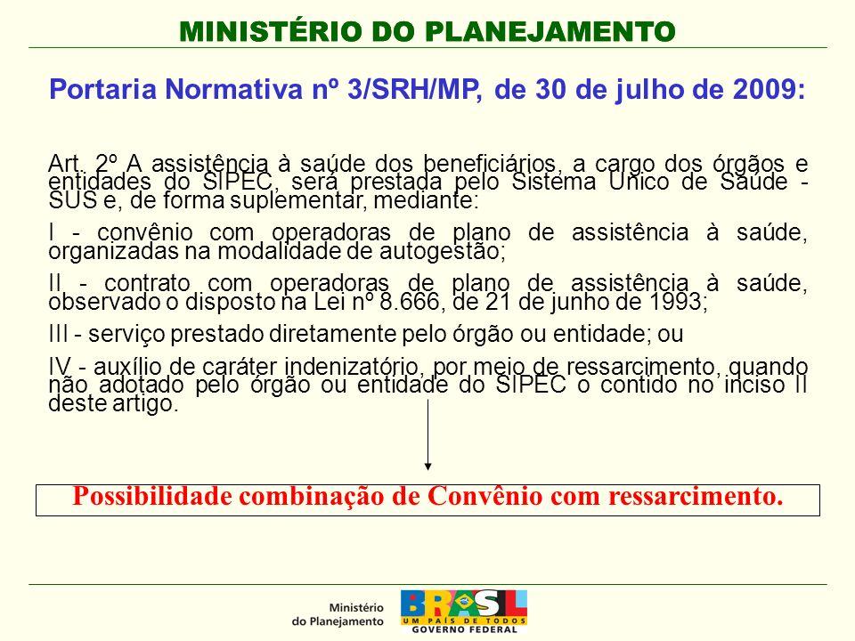 Portaria Normativa nº 3/SRH/MP, de 30 de julho de 2009: Art.