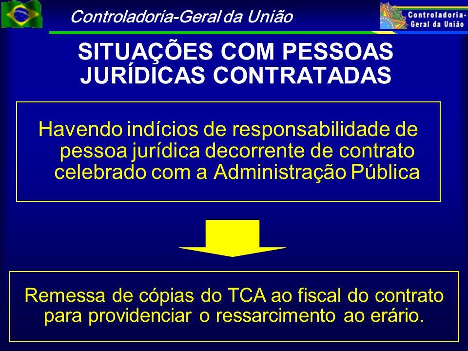 Controladoria-Geral da União Havendo indícios de responsabilidade de pessoa jurídica decorrente de contrato celebrado com a Administração Pública Reme