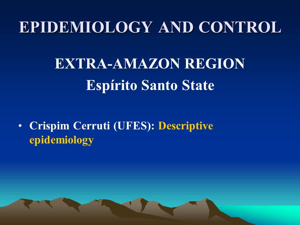 EPIDEMIOLOGY AND CONTROL EXTRA-AMAZON REGION Espírito Santo State Crispim Cerruti (UFES): Descriptive epidemiology