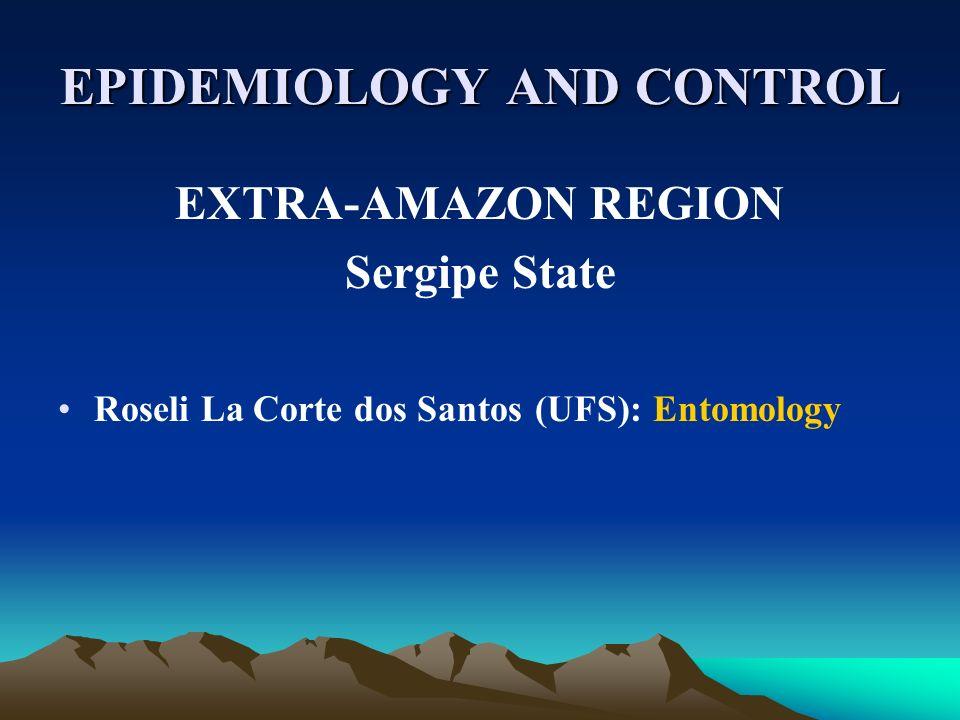 EPIDEMIOLOGY AND CONTROL EXTRA-AMAZON REGION Sergipe State Roseli La Corte dos Santos (UFS): Entomology