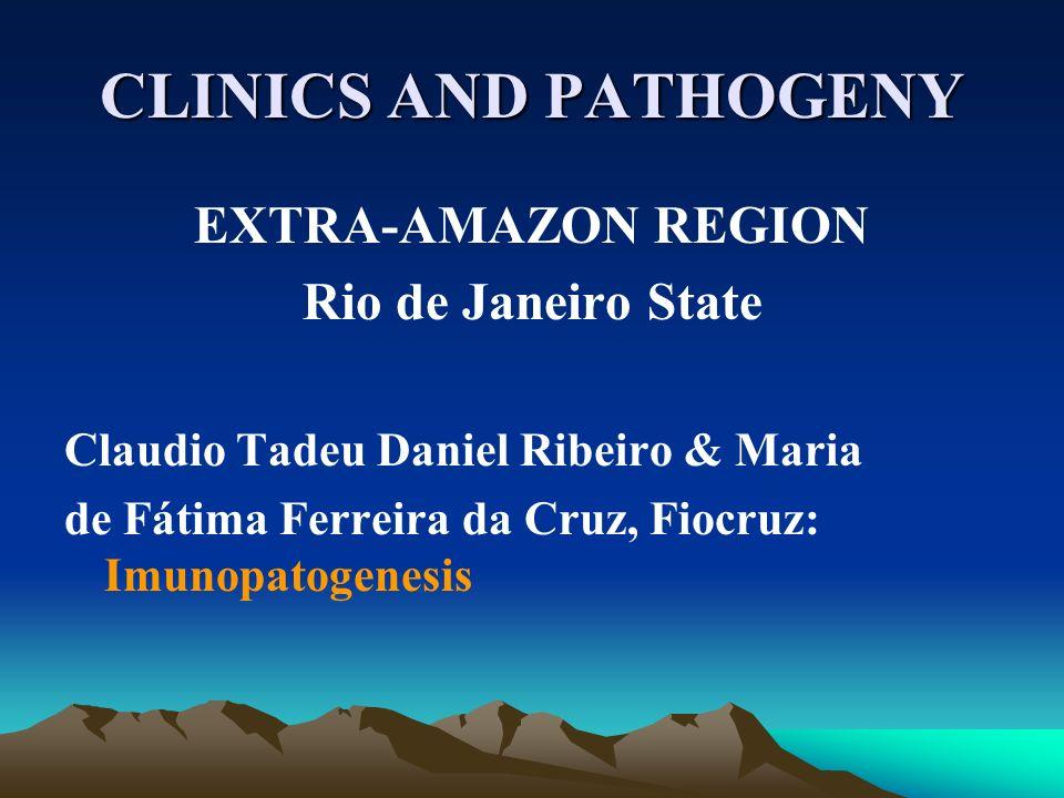 CLINICS AND PATHOGENY EXTRA-AMAZON REGION Rio de Janeiro State Claudio Tadeu Daniel Ribeiro & Maria de Fátima Ferreira da Cruz, Fiocruz: Imunopatogene